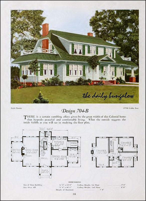 1920 National Plan Service Vintage House Plans Colonial House Plans House Plans