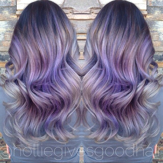 Silvery Lavender Metallic Hair Hairbyhollie Holliegivesgoodhair Guytang Btcpics