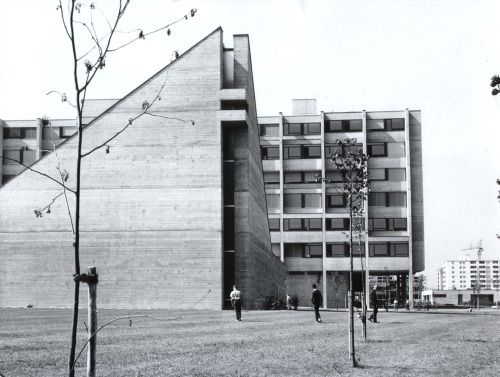 germanpostwarmodern: Teachers' Training College St Josef (1966-69) in Regensburg, Germany, by Franz Kiessling