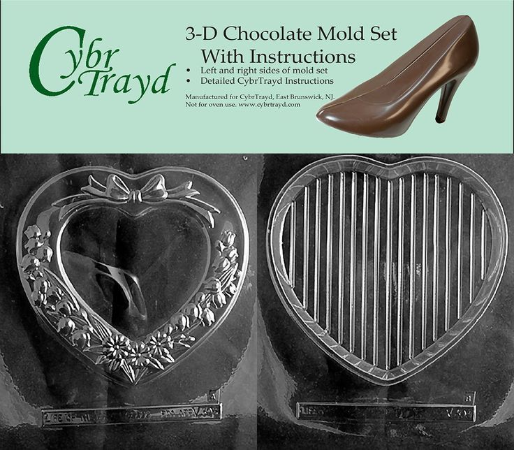 Cybrtrayd V303AB Chocolate Candy Mold, Includes 3D Chocolate Molds Instructions and 2-Mold Kit, Personalized Heart Pour Box -- Additional details at the pin image, click it  : Candy Making Supplies