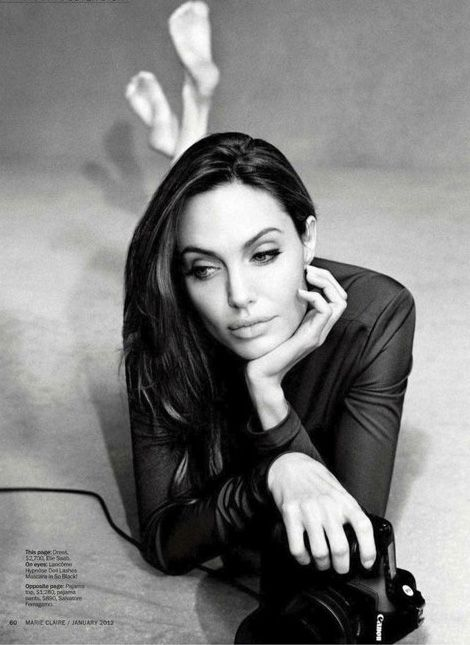Angelina Jolie Marie Claire Jan'12