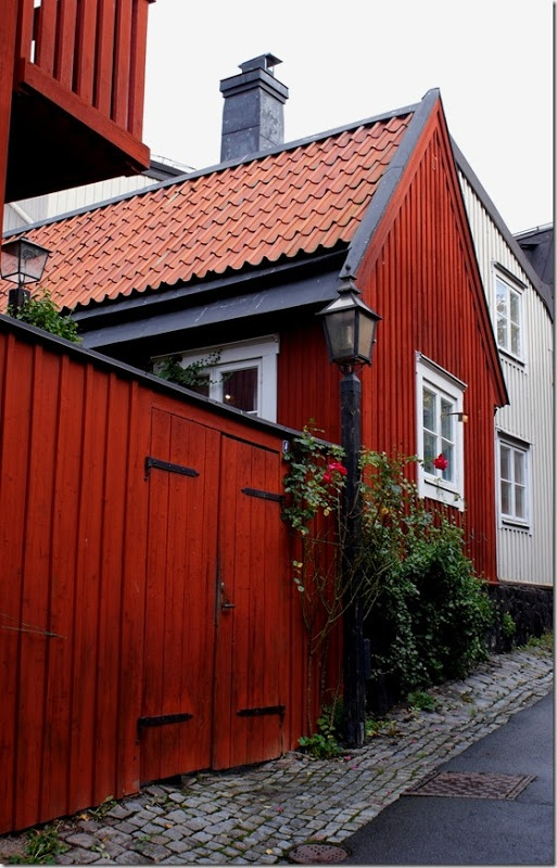 Red House - Stockholm. Love this color, I wonder how hard it is to maintain.