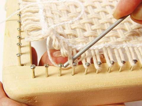 Tear de Pregos: Passo a passo tear quadrado/ step by step square loom nail                                                                                                                                                      Mais
