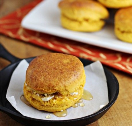 Thanks­giving leftovers...Sweet Potato Biscuits with butter & honey