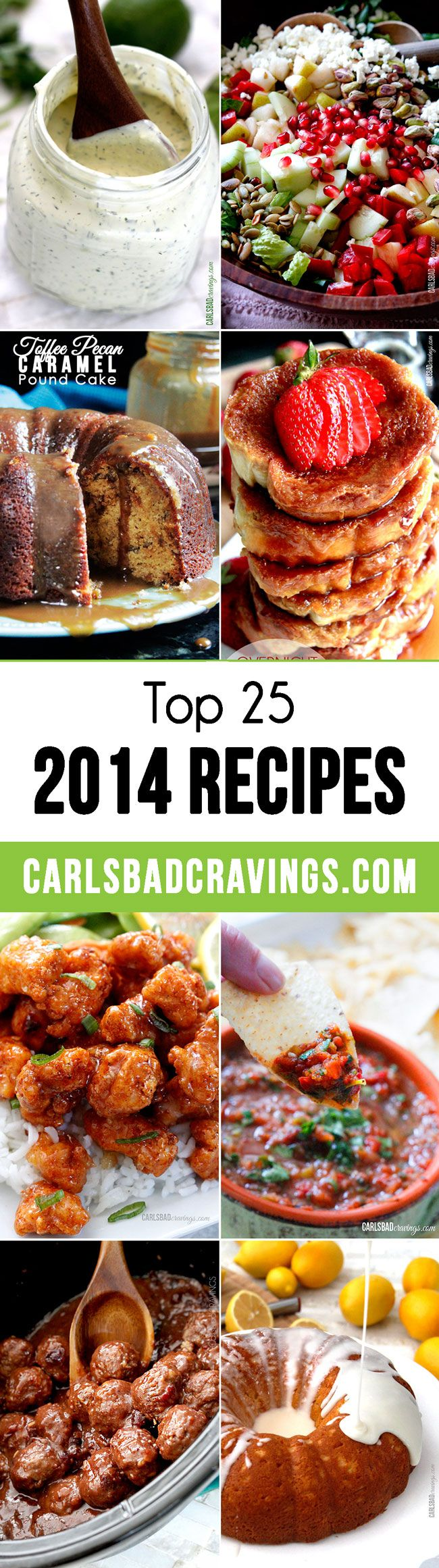 Top 25 Carlsbad Cravings Recipes of 2014 - a lot of MUST MAKES on this list! #toprecipes #popularrecipes
