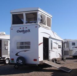 46 best images about toy hauler builds on pinterest for Rv with roof deck