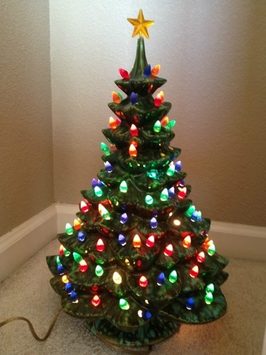 Porcelain Lighted Christmas Tree