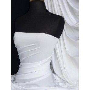 Pure white shiny lycra/ spandex 4 way stretch fabric