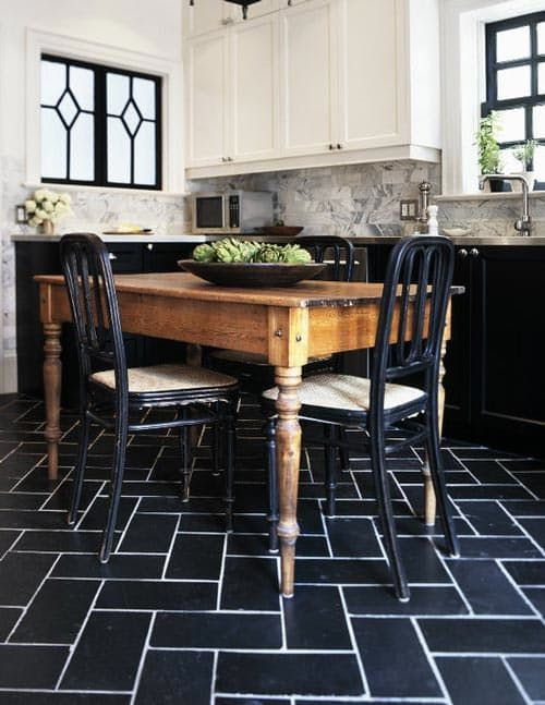 You can get 12x12-inch tiles so cheap at home improvement stores - even stone tiles run as low as a couple of dollars per square foot. But limiting yourself to a 12x12 grid can be a bit, well, boring. We can recommend this trick of the trade we've done many times: