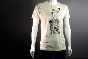 """T-shirt """"Silence"""" Homme Speckled http://www.you-art-different.com/"""
