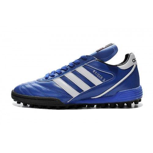 Salg Adidas Kaiser 5 TF Bla Fotballsko -Ny Adidas Kaiser 5 TF Fotballsko