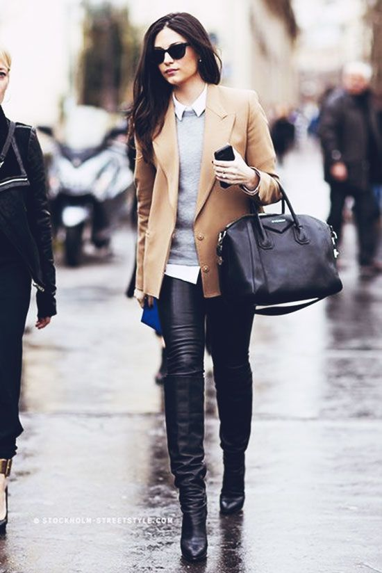 Fashion -- Autumn Style Inspiration : Leather Weather--a ...