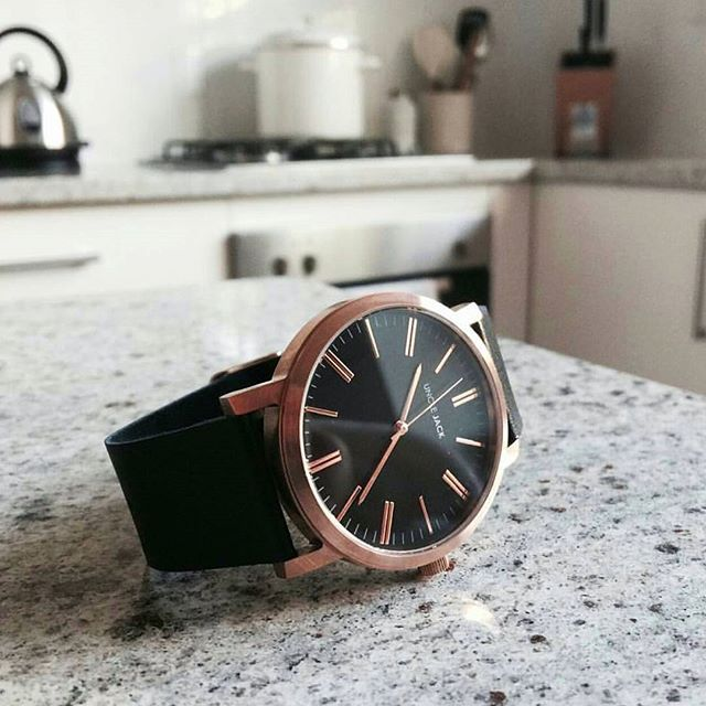 Case Material: Stainless Steel. Brushed Rose Gold watch.