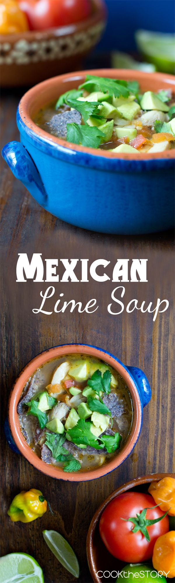 Sopa de Lima (Mexican Lime Soup) - This flavorful soup comes together in just 15 minutes, making it perfect for dinner tonight! From COOKtheSTORY.com