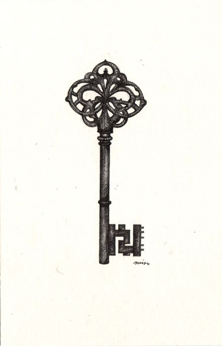 Skeleton Key Tattoo Sample