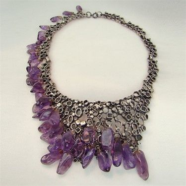 vintage 1940s modernist amethyst necklace