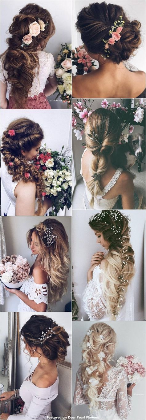 65 new romantic long bride to try wedding hairstyles / Ulyana Aster www.ulyanaa