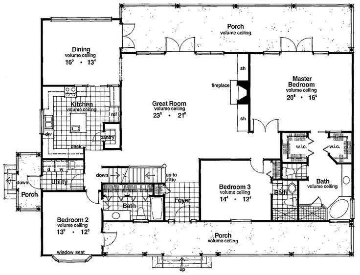 5 bedroom floor family home plans 2500 sq ft ranch homes for Home plans 2500 square feet