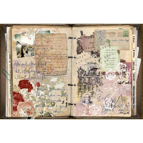 Beautiful collage pages.