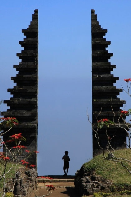 Candi Ceto - a hindu temple from the 15th century that sits isolated over 1500m up the slope of the Lawu volcano, near Solo, Central Java, Indonesia.