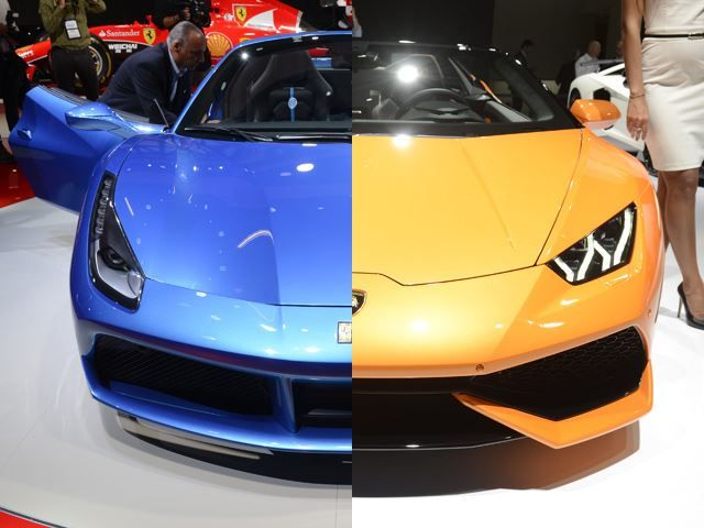 Supercar beat down: Ferrari 488 Spider vs Lamborghini Huracan Spyder Both these super cars were officially revealed during Frankfurt Motor Show and if asked to choose one, people will need a moment to consider! Would fans of one car like and want to switch sides? The technical specs of both cars is beyond impressive, the Ferrari 488has 660 hp and Huracan has 610...