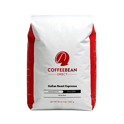 Coffee Bean Direct Italian Roast Espresso Whole Bean Coffee 5Pound Bag * Click image for more details.