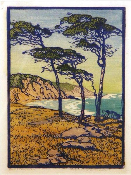 'Fair Weather' || Frances Gearhart, Color Wood Block Print