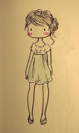 If only I could draw adorable outfits.