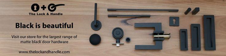 Large range of matte black door hardware