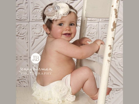 Bloomer Diaper Cover Ivory Lace Bloomer Ivory Lace by KidsAmore, $9.95