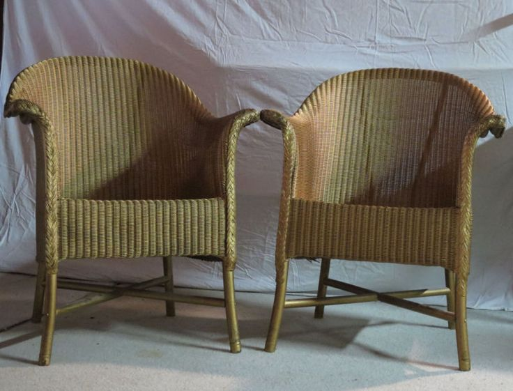 Vintage Lloyd Loom chairs.