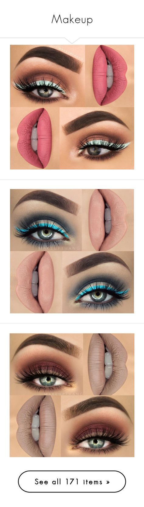 """""""Makeup"""" by mildabas ❤ liked on Polyvore featuring makeup, lipstick, make, beauty products, lip makeup, eyes, lips, mosca, eye makeup and eyeshadow"""