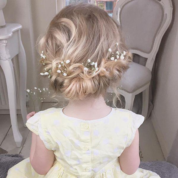impressive flower girls wedding hair style