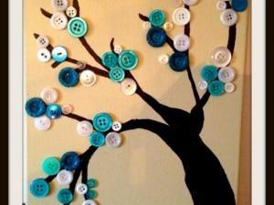Nous sommes mercredi : jour des enfants, même si en ce moment c'est les vacances scolaires, donc tous les jours sont dédiés aux enfants !!!! Je vous propose donc une activité manuelle à faire avec vos loupiots, matériel à avoir : - une toile blanche - des boutons de couleurs, taille, et formes différente selon le rendu que vous souhaitez - de la colle forte (...) - Tableau boutons