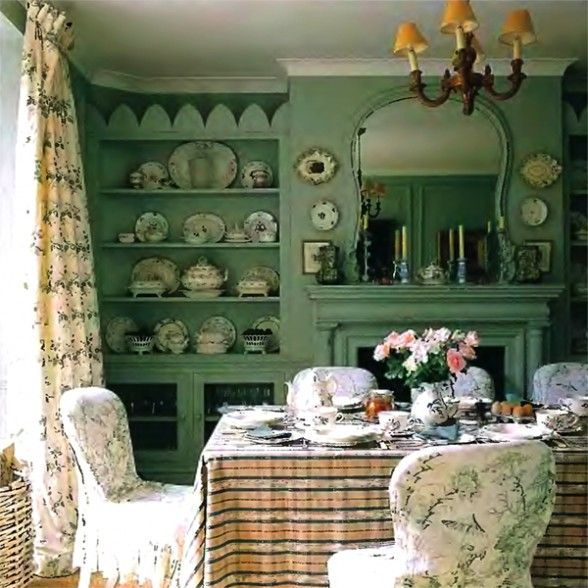 Pretty cottage dining room perfect home pinterest for Comedor shabby chic
