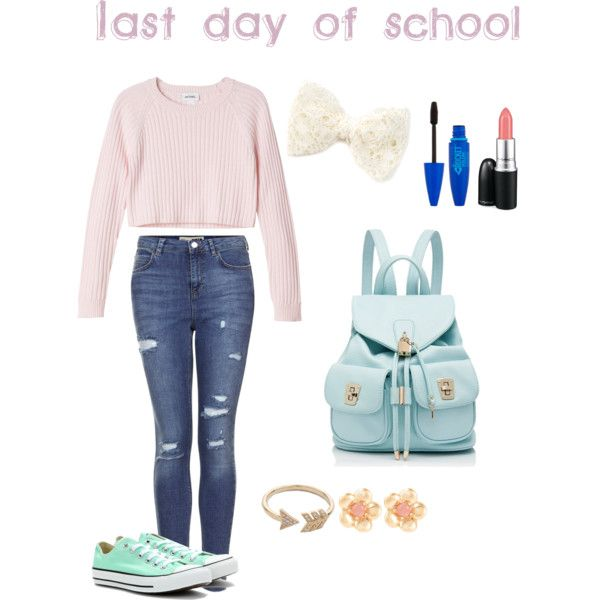 Last day of school cute outfit! by itsrebecca13 on Polyvore featuring Monki, Topshop, Converse, Forever New, Sence Copenhagen, EF Collection and MAC Cosmetics