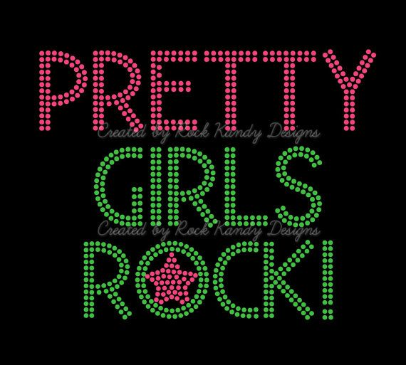 Hey, I found this really awesome Etsy listing at https://www.etsy.com/listing/175351823/pretty-girls-rock-rhinestone-tee