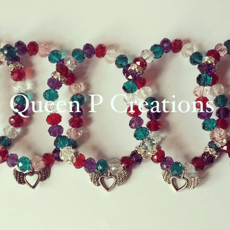 Colourful crystal bracelets