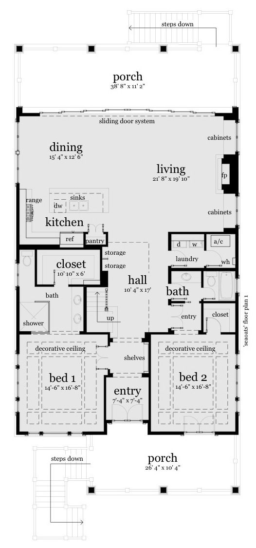 7 best duplex plans images on pinterest home plans for Duplex beach house plans