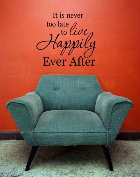 happily ever afterWall Art, Art Quotes, Vinyls Decals, Living Rooms, Happily Ever After, Cute Quotes, Future House, So True, Wall Words