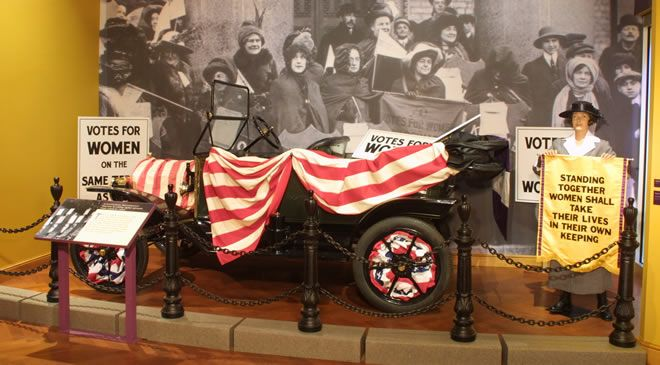 With Liberty and Justice for All Exibit - Votes for Women at The Henry Ford Museum - FunInTheD