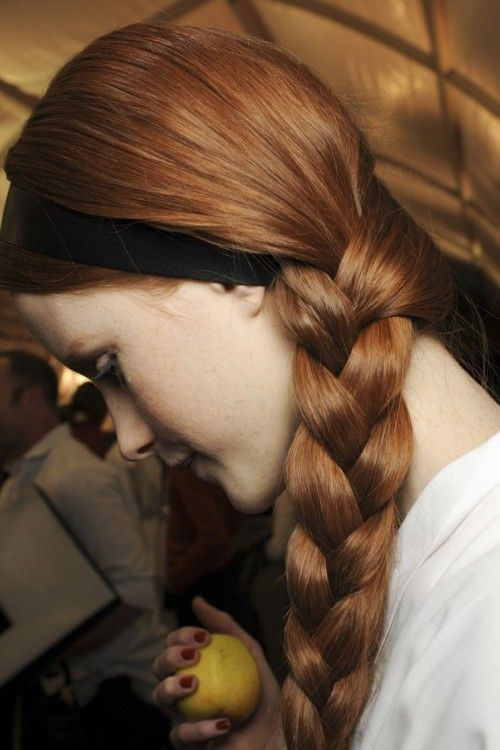 """Hairstyle for Alayne Stone  """" Backstage @ Valentino, Fall 2013  """""""