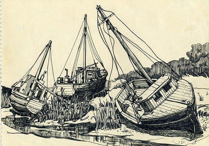 Sylvia Plath Sketching