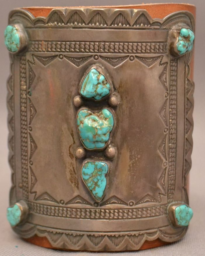 Navajo silver ketoh ketohs were originally made of for Turquoise jewelry taos new mexico