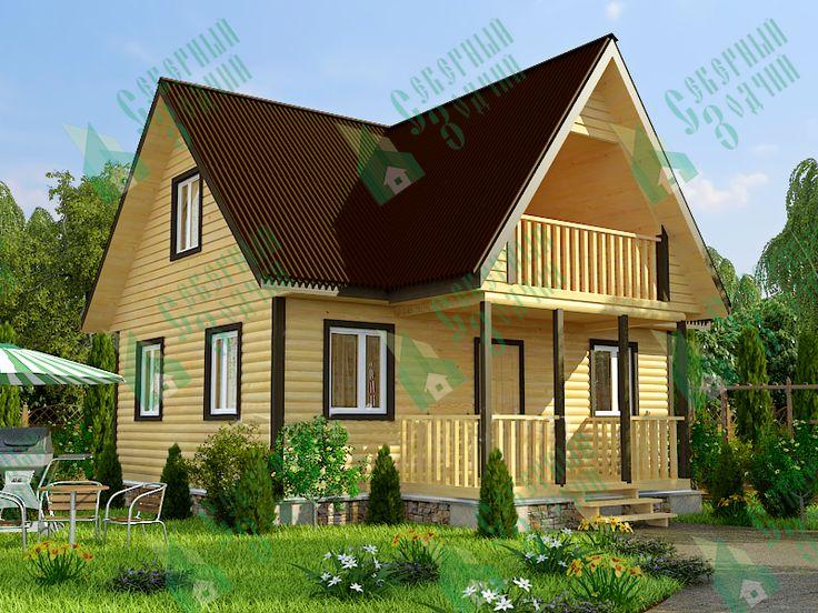 Каркасный дом 8 х 8 - цены и проекты в Санкт-Петербурге