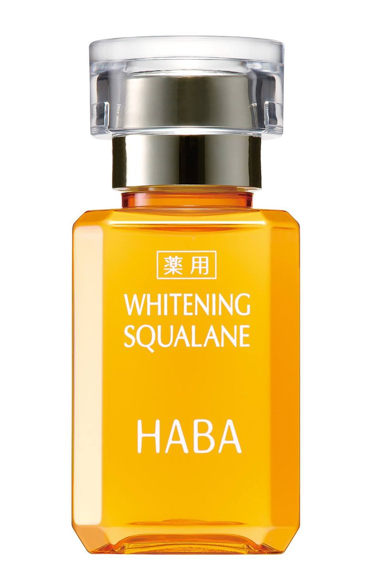 WHITENING SQUALANE:Squalane oil for whitening. The ideal fusion of Squalane and osmotic Vitamin C derivative enables skin's total improvement. Skin will be moisturized, softened, fortified and whitened deep inside.