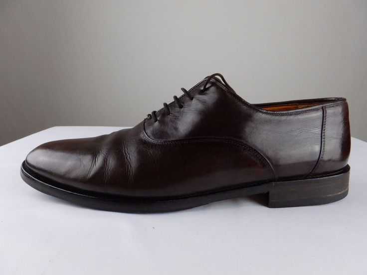Sandro Moscoloni Leather Brown Gage Oxford Vibram Sole Men Shoes 12 #SandroMoscoloni #Oxfords