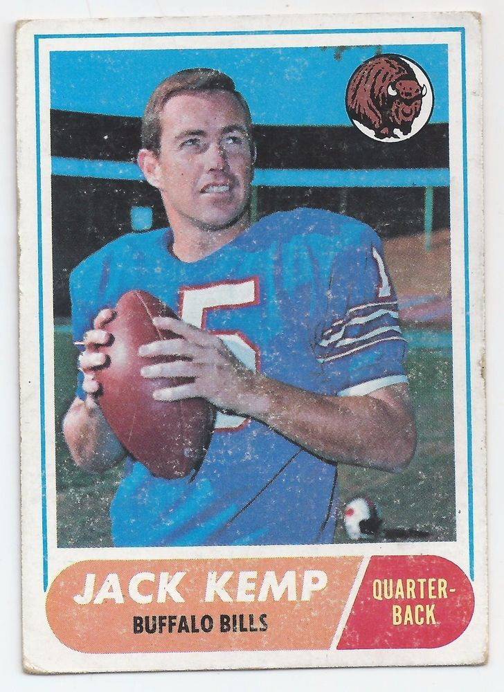 1968 Jack Kemp Football Card NFL Hall of Famer #BuffaloBills