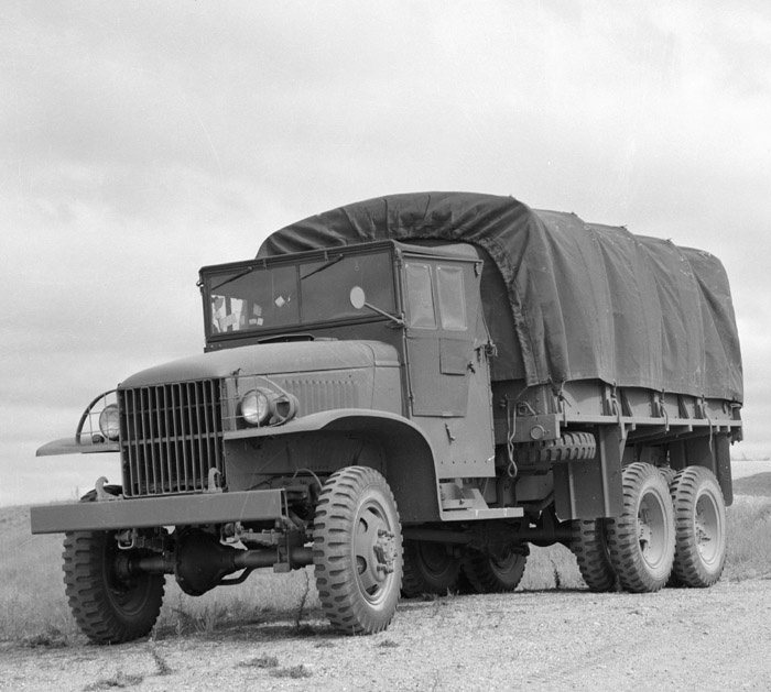"1941 - GMC built the first of nearly 530,000 2-1/2 ton 6x6 trucks for the U.S. Army. Most were powered by the GMC 270 cid engine that became famous as the ""workhorse"" engine of Army trucks. 1941-1945 - GMC produced nearly 584,000 multi-drive military vehicles for World War II."