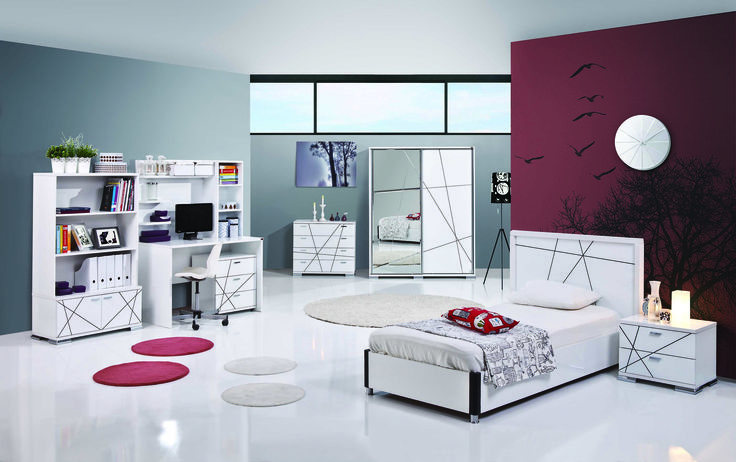 jugendzimmer modern rock 7tlg jugendzimmer architektur. Black Bedroom Furniture Sets. Home Design Ideas
